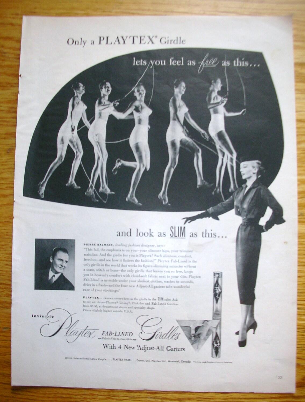 Items Similar To Vintage Magazine Ad Playtex Girdle On Etsy
