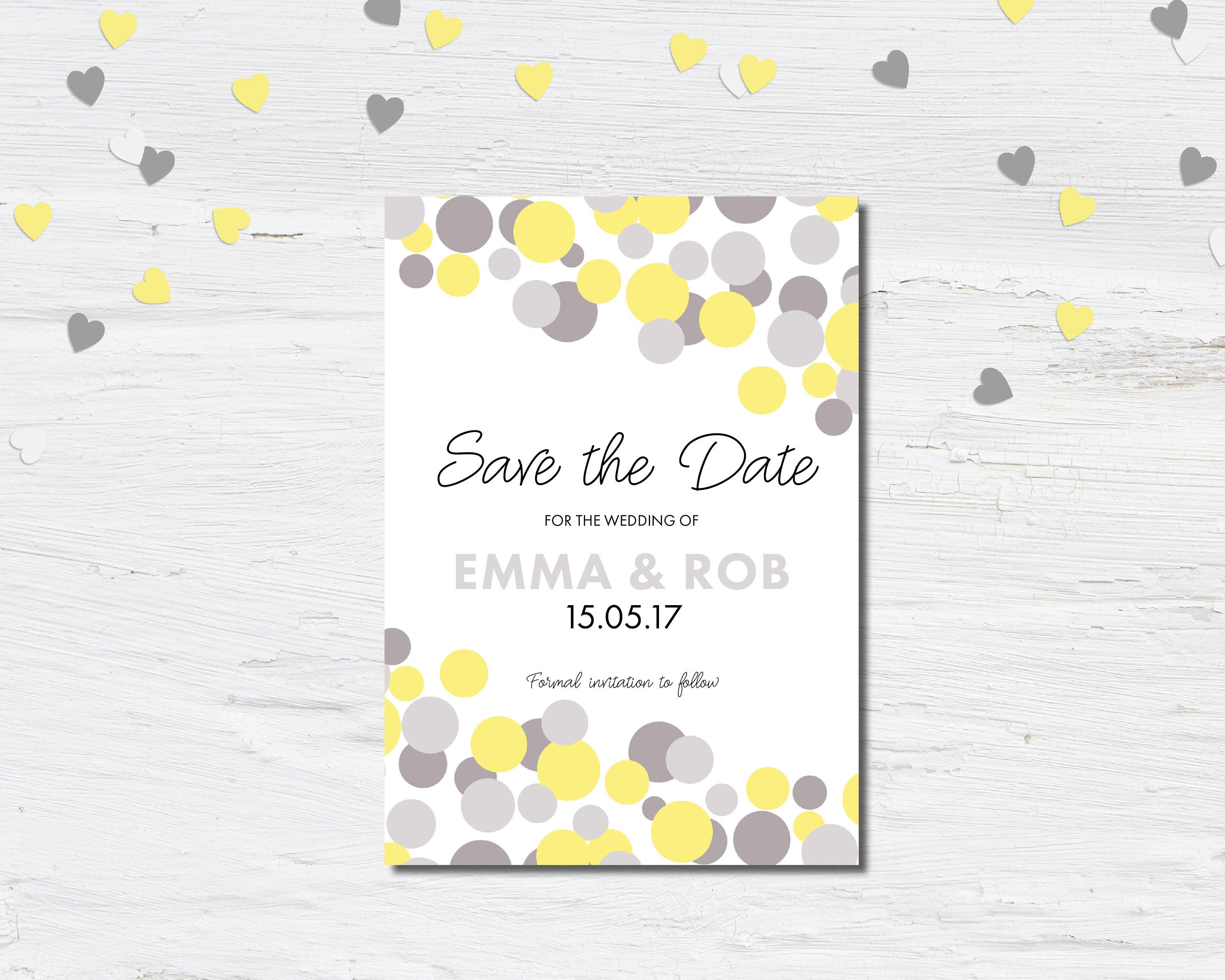 Modern Wedding Save the Date Save the Date Card Silk or Magnetic