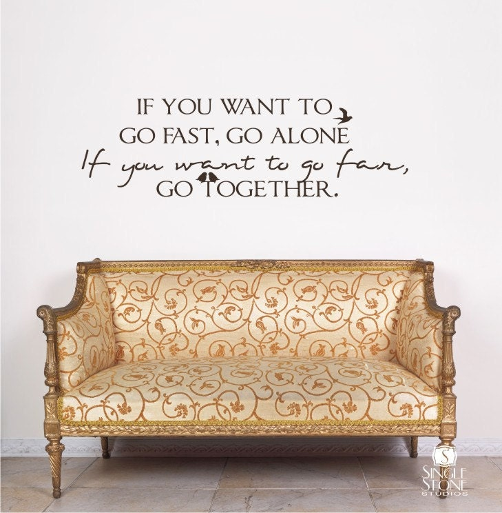 Wall Decoration Text : Wall decal quote go together vinyl text by singlestonestudios