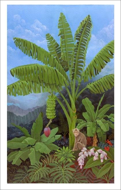 Albero di banane con scimmia di ellenblonderstore su etsy for Albero di banane