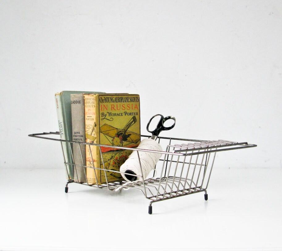 Vintage Wire Dish Drainer - Desk Organizer - Book Stand - BeeJayKay