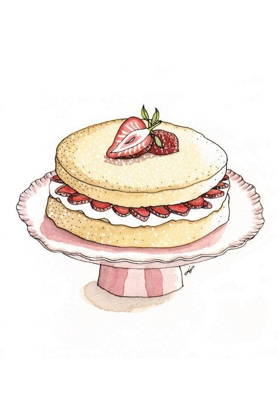 Genoise sponge cake, giclee print