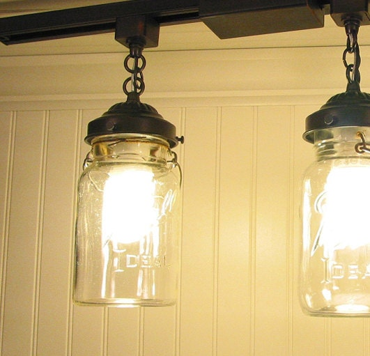 Vintage And Industrial Lighting From Etsy: Vintage Canning Jar TRACK LIGHT Single By LampGoods On Etsy