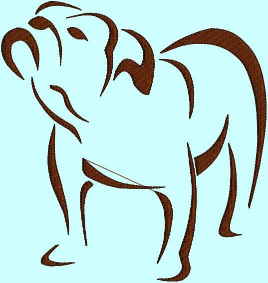 English Bulldog Outline Bulldog bull dog outline dog