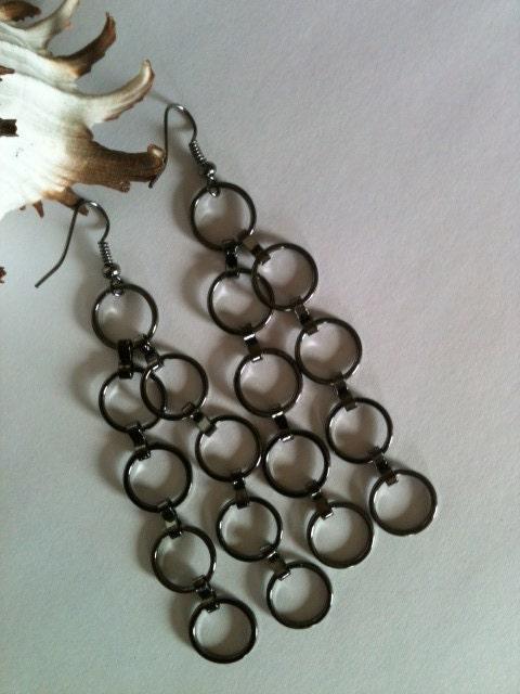 Silver Ring Dangle Earrings - KoolnecksAccessories