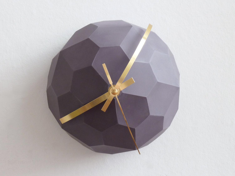 Polyhedra Globe Wall Clock - RawDezign