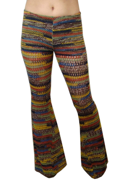 Crochet Pattern Yoga Pants : FIESTA CROCHETED BELL BOTTOM PANTS place custom by ...