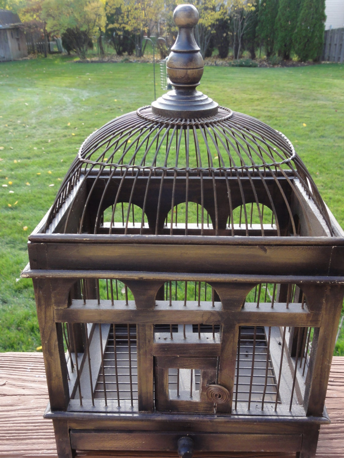 Small Vintage Style Bird Cage For Home Decor By