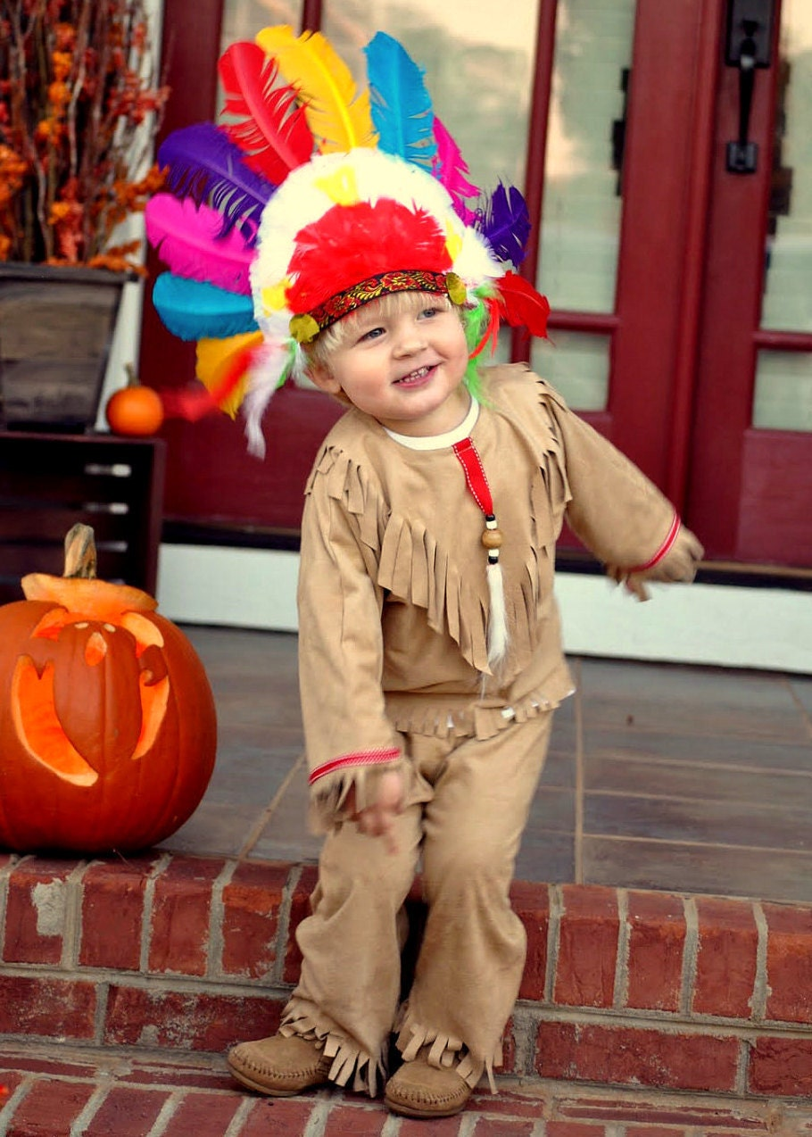 Native American Indian costume kid size for boys by MainstreetX
