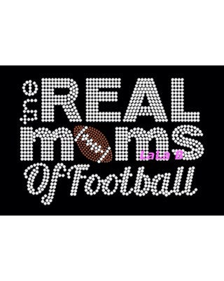 Football Mom Iron On Hot Fix Rhinestone By Lalaboutiquebling