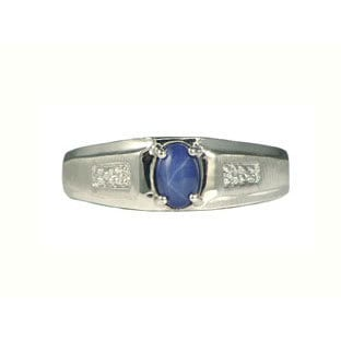 Blue Sapphire Ring For Men Price White Gold Mens...