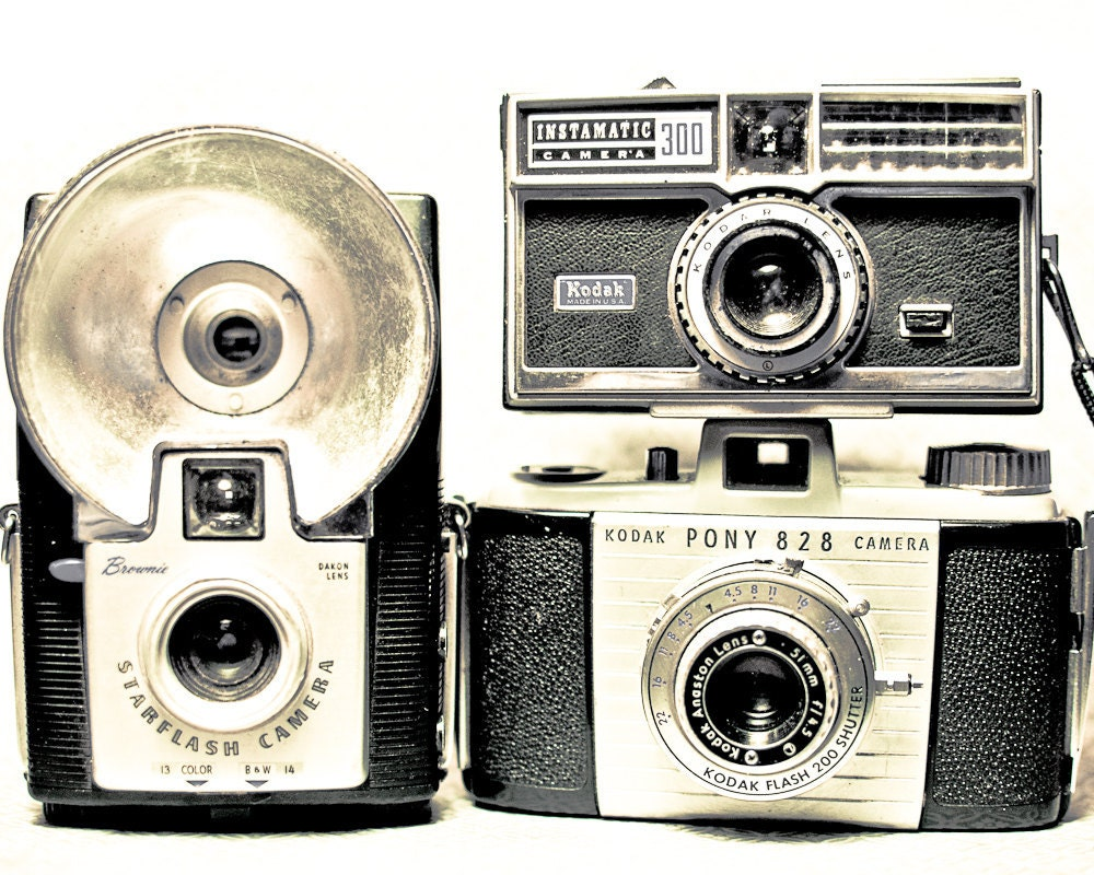 Collection Old Camera 8 x 10 Photography Art Print- Great Gift for the Photographer - TerraVision