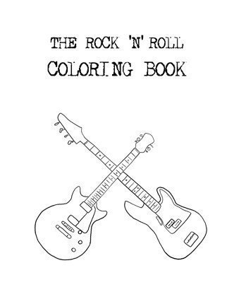 How To Draw Rock N Roll Coloring Pages