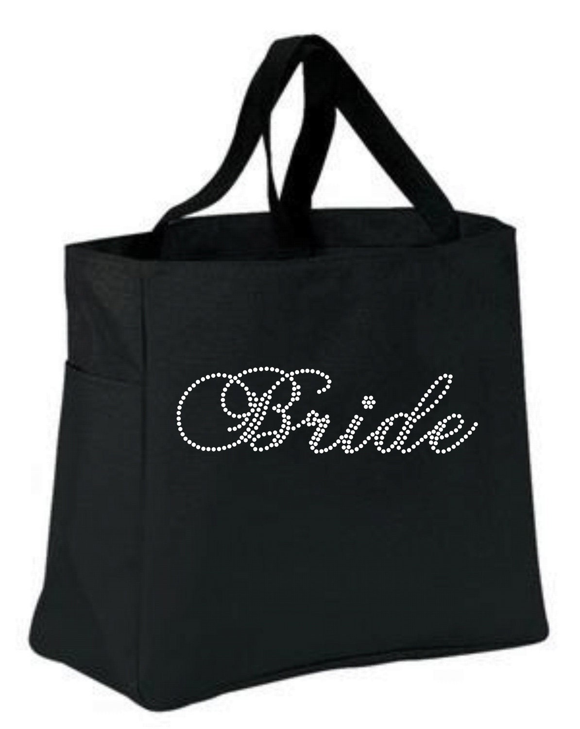 Bride Rhinestone Tote Bag Gift Wedding Party Gift By Kadensdesigns