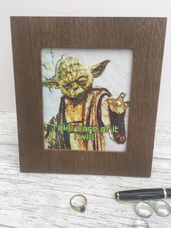 Star Wars Yoda Ring Holder Jewellery Organiser Ring Display Ring Stand Ring Storage