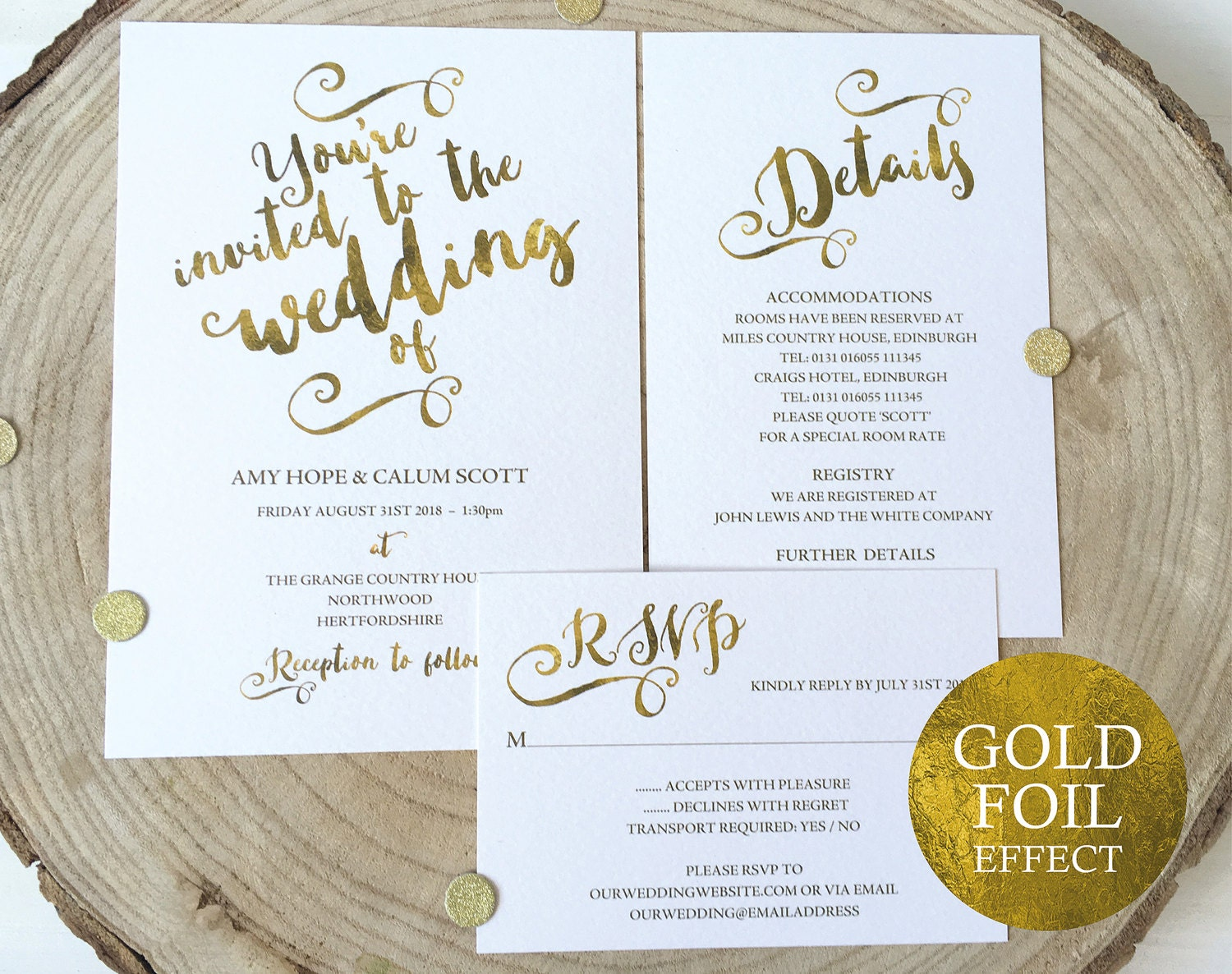 Gold Wedding Invitation Template Wedding Invitation Template Wedding Invite Set Gold Wedding Invitation Set Instant Download MMPB041