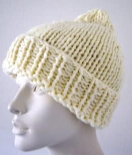 Handknit Chunky Cream Hat