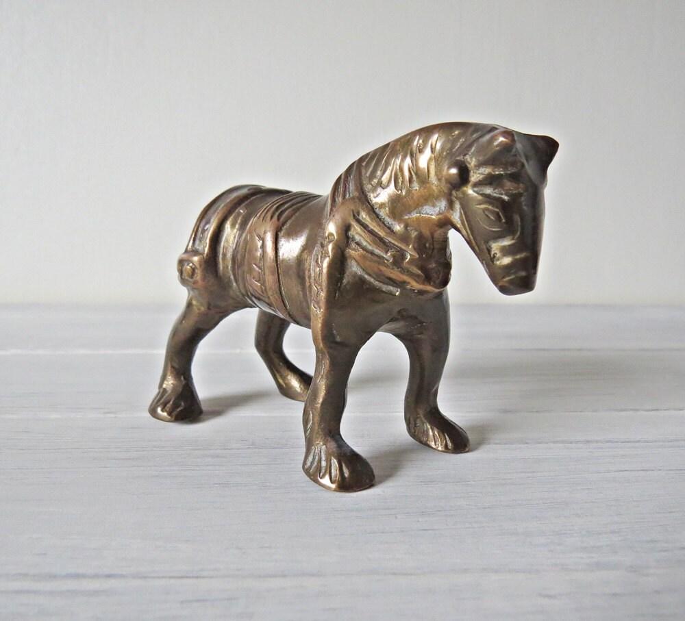 Metal Horse  Vintage Metal Horse  Horse Figurine  Metal Figurine  Horse