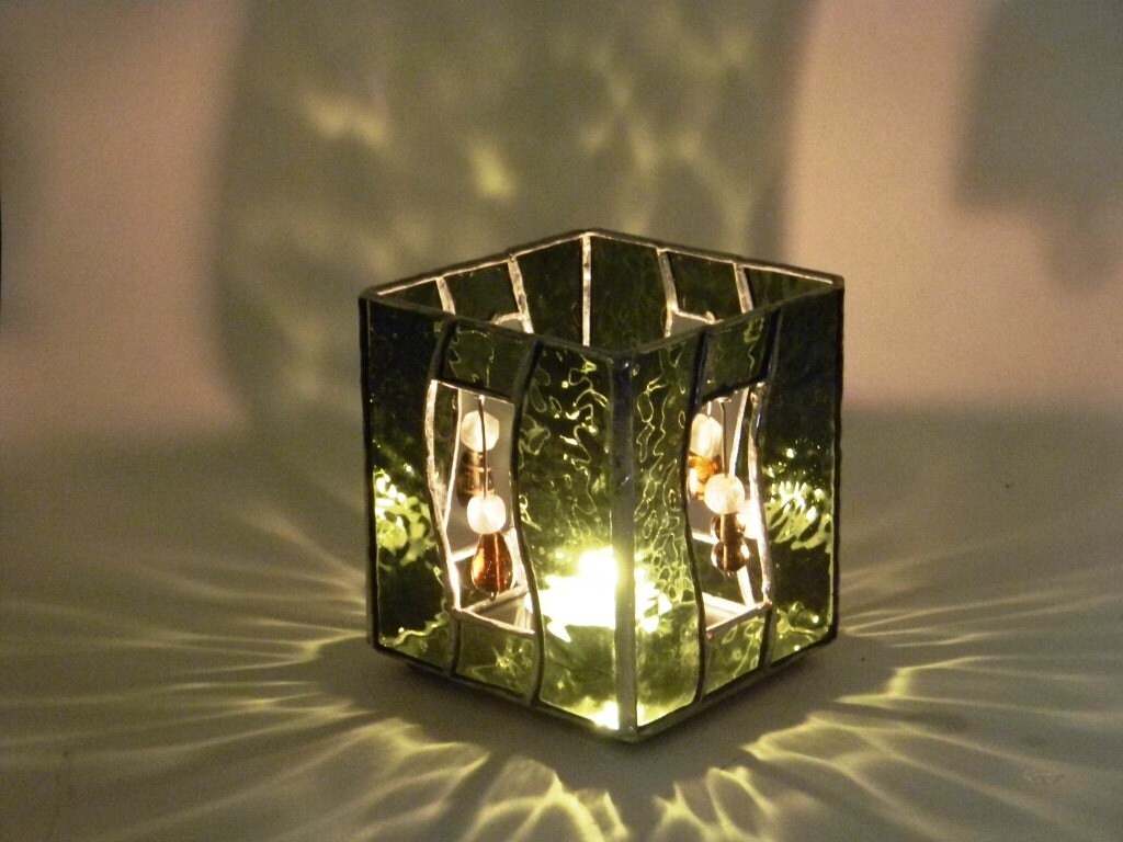 images about Stained glass candle holders