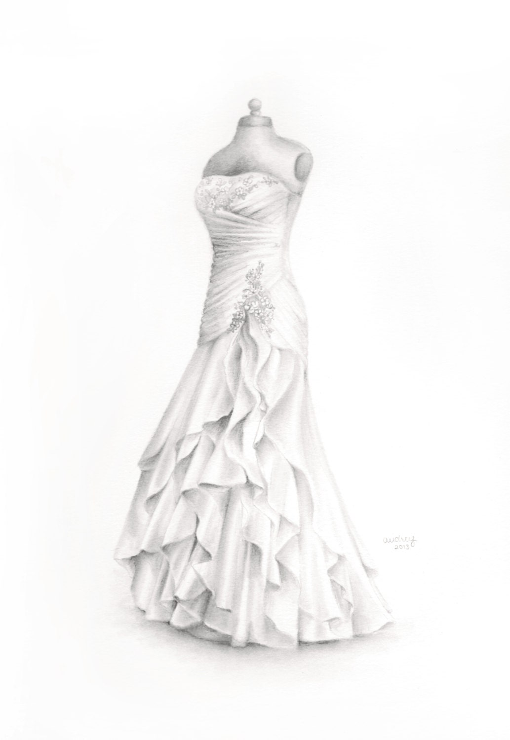 Wedding Gowns Drawings - Lady Wedding Dresses