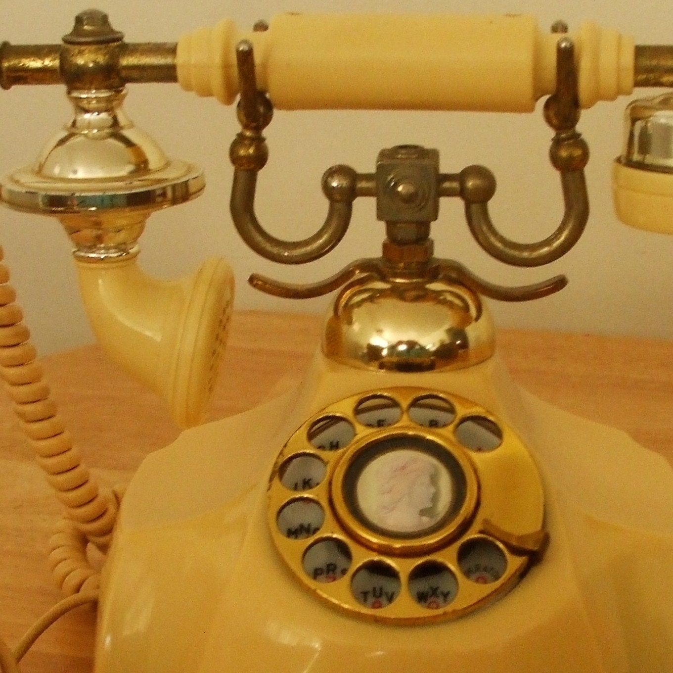 Vintage Rotary Phone Very fancy French Provencal by