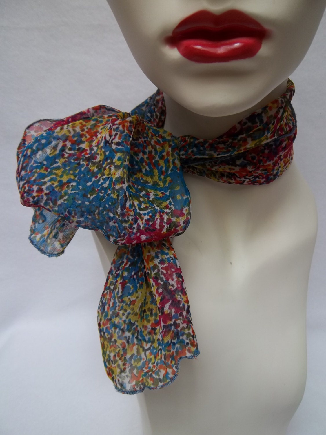 items similar to scarf multi abstract chiffon neck scarf