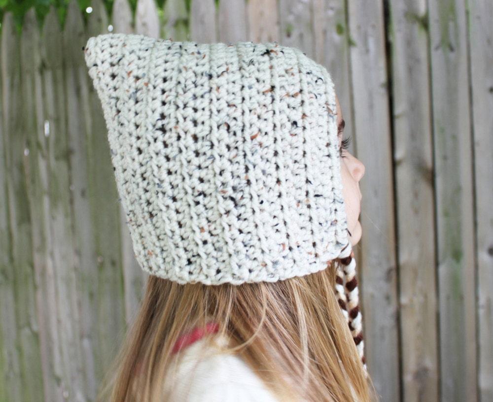 Crochet Pixie Hat - Toddler Pixie Bonnet - Elf Hood - Gnome Hat - Pixie Hood - Elf Hat - Pixie Hat