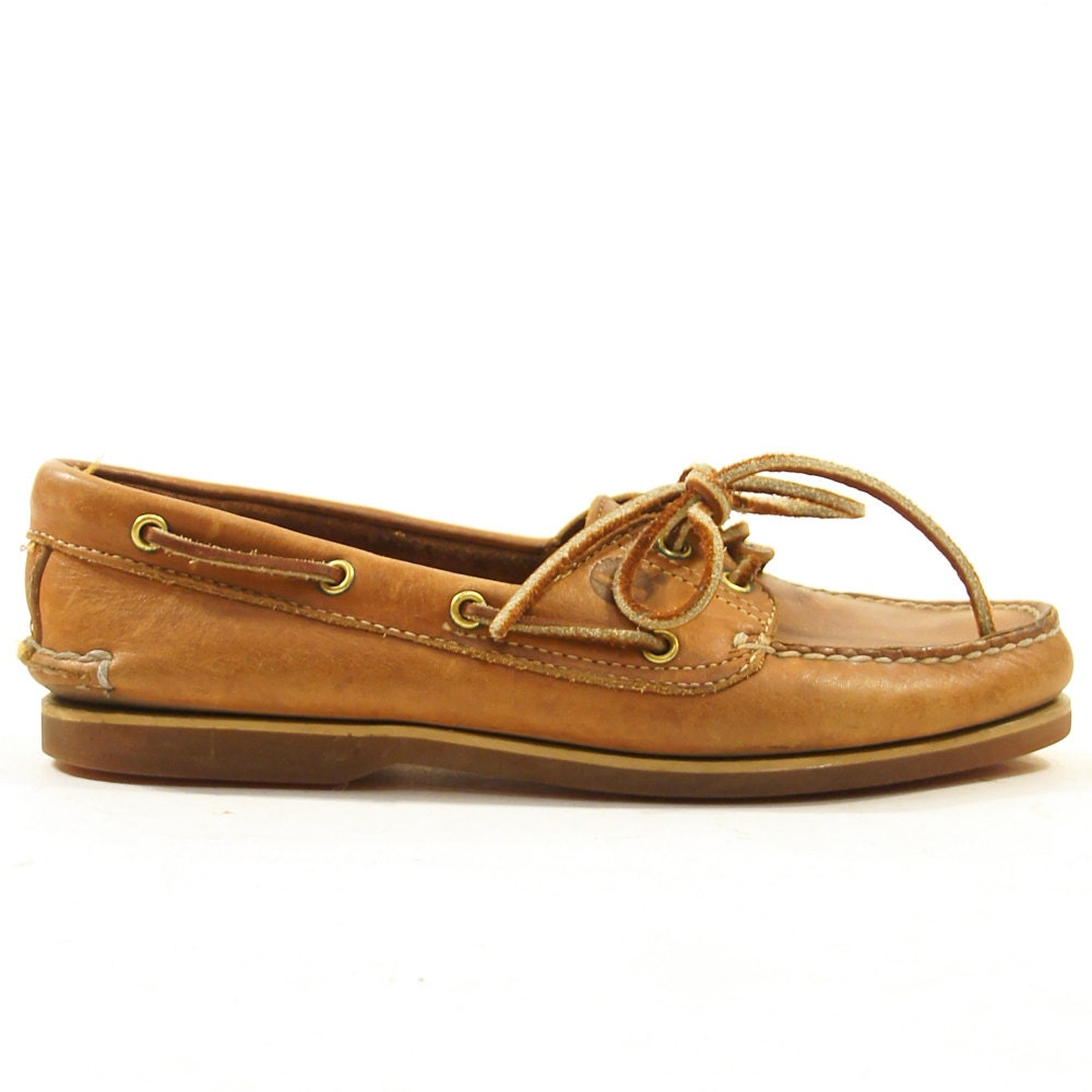 timberland topsiders brown leather deck shoes by