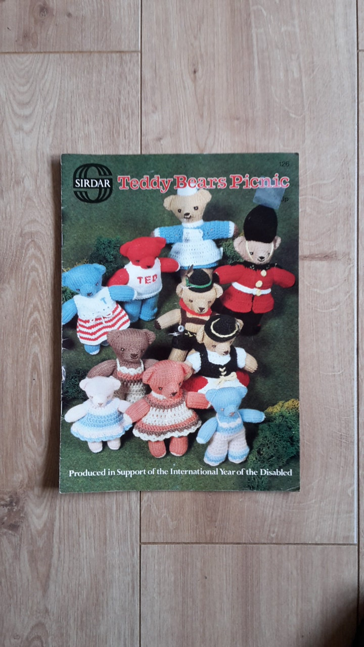 Sirdar Teddy Bears Picnic Knitting  Crochet Booklet Teddy Bear Knitting Crochet Patterns Knitted Teddy Bears