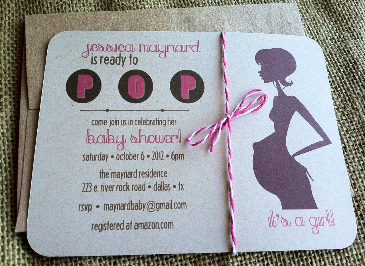 ready to pop baby shower invitation custom by kandvcrafts