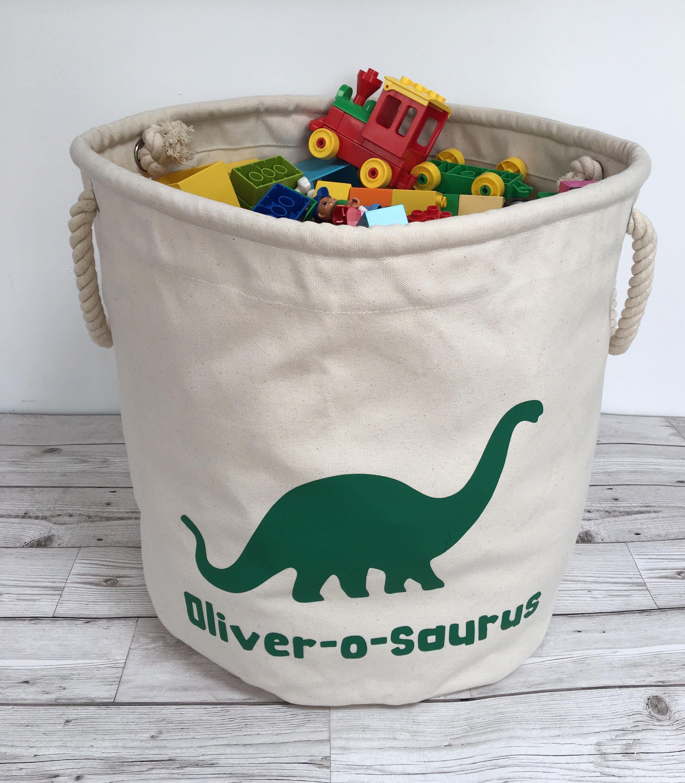 Personalised Dinosaur storage bag toy storage laundry bag