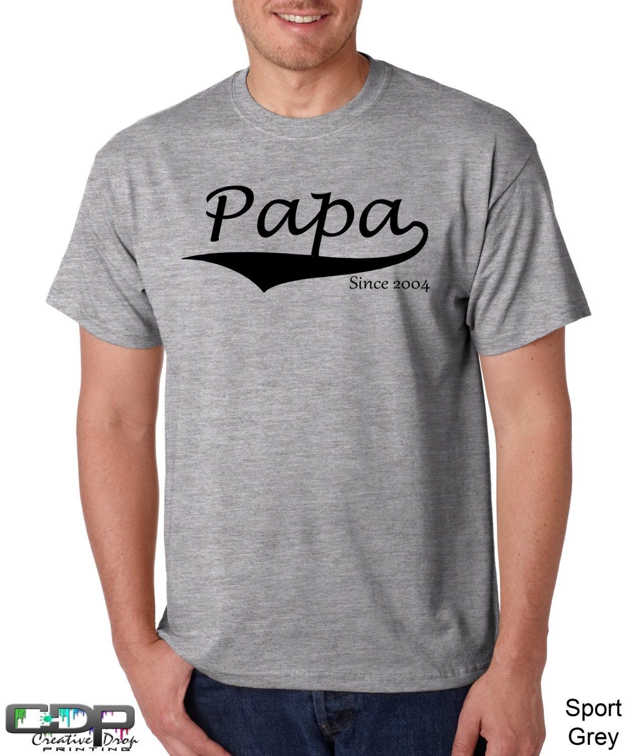 Personalized fathers day shirt papa since by for Custom shirts fast delivery