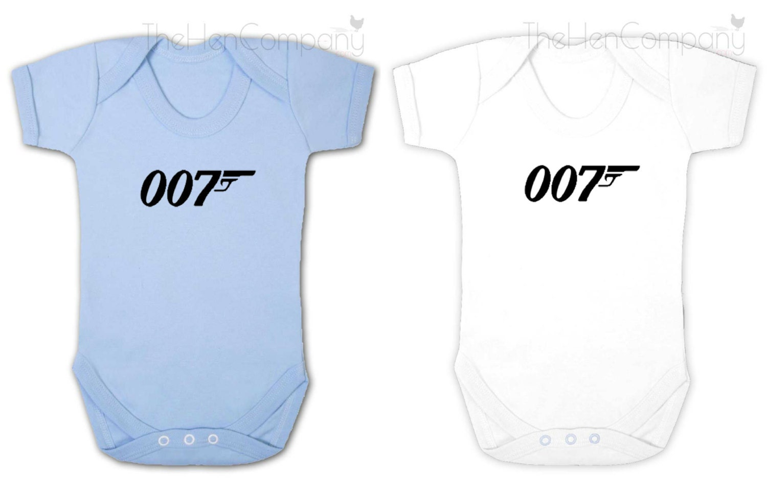 007 Babygrow Retro Bodysuit Boys Clothes James Bond Babygrow Baby Boy Clothes Baby Boy Gift Blue