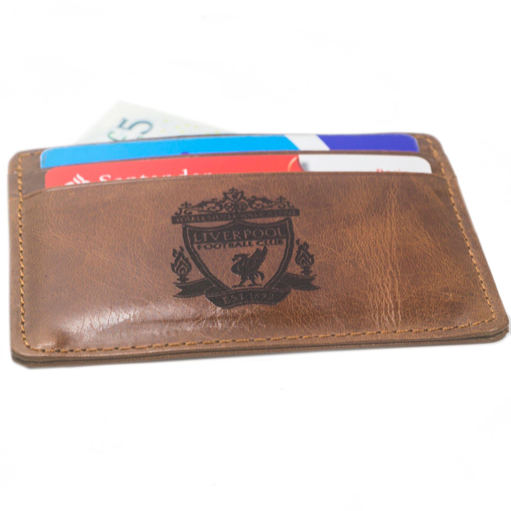 LIVERPOOL F.C. Real Leather Credit ID Business Card Holder Oyster Liverpool Club