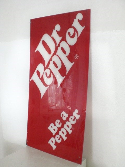 Vintage Dr. Pepper Sign 1980's Advertising Soda Machine
