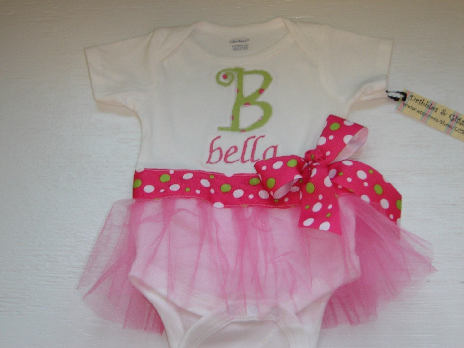 tutu onesie dresses    monogrammed baby girl gifts by lcbags