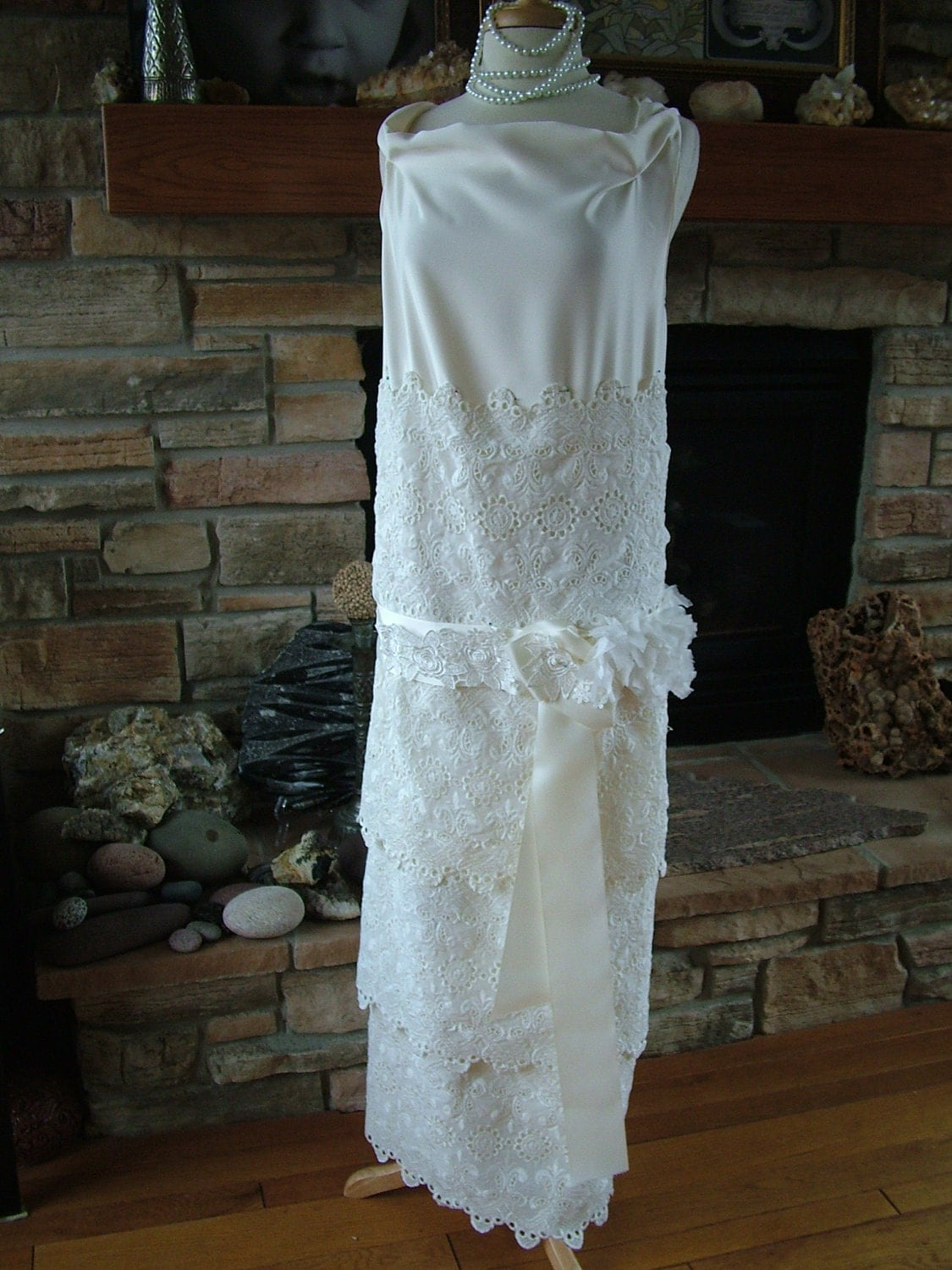 Wedding sale 1920s inspired wedding dress by for 1920s inspired wedding dresses