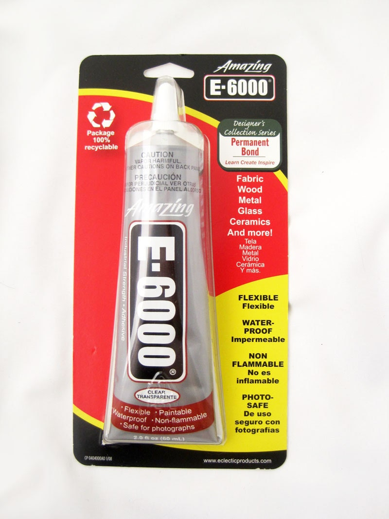Jewelry glue e6000 is also great for feathers fabric by for Best glue for pearl jewelry