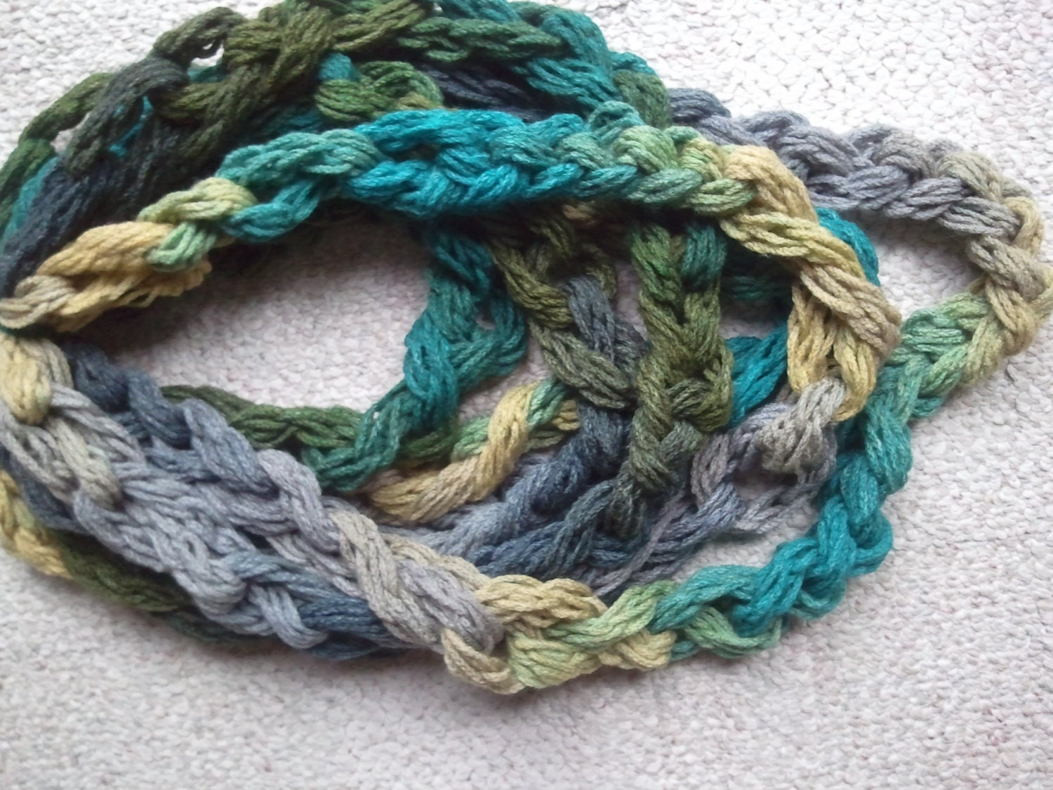 Hand Crochet Cowl Chain Scarf - softtotouch