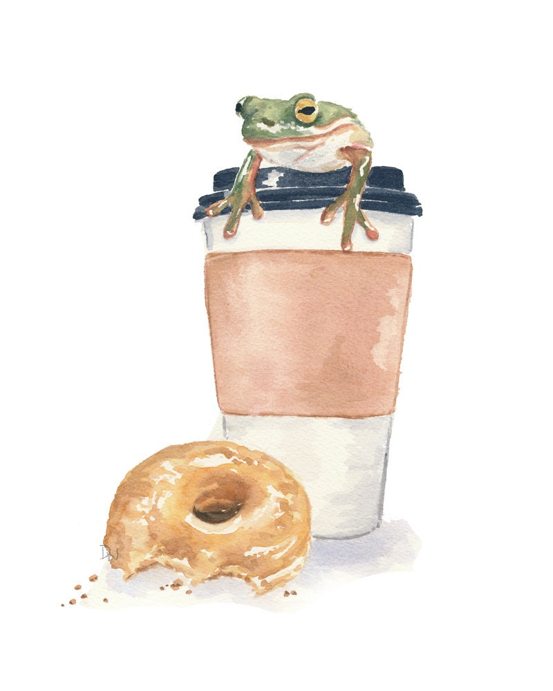Unavailable listing on etsy for Coffee watercolor