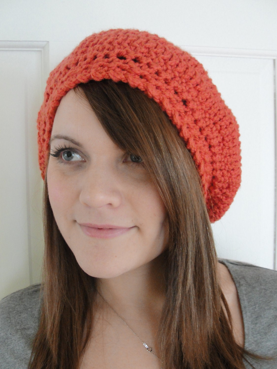 Crochet Slouchy Hat Patterns For Beginners : DIY CROCHET Pattern Hat SLOUCHY Beret by TooCuteCrochet on ...