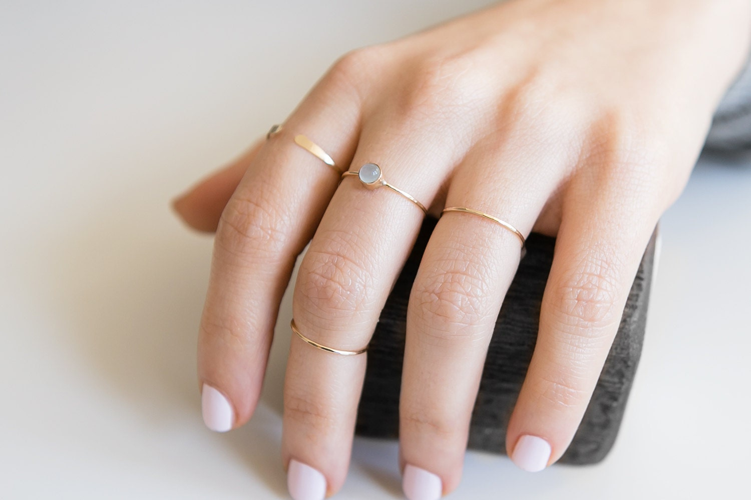 Aquamarine Ring  14K Gold Filled  Stacking Ring  March Birthstone  Minimalist Ring  Dainty Ring  Boho  Gift For Her