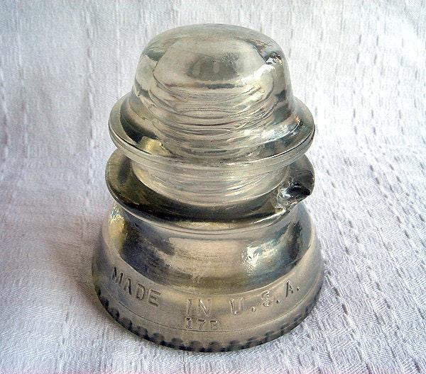 Vintage hemingray 42 glass telephone pole by blueonioncurios for Vintage glass telephone pole insulators