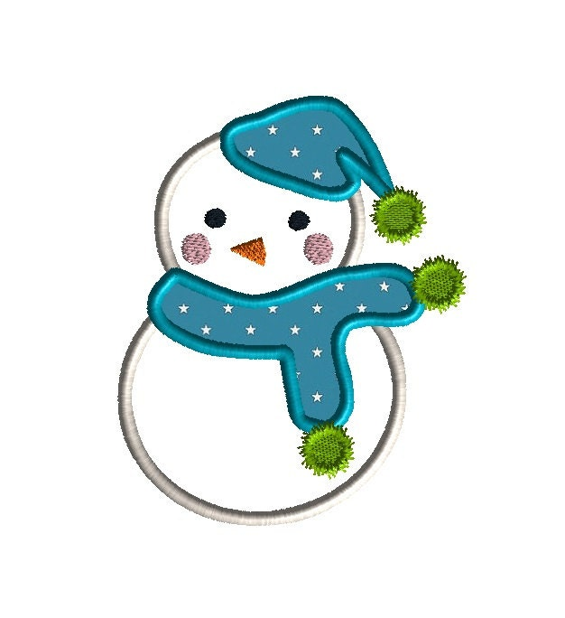 Items similar to snowman ii applique machine embroidery