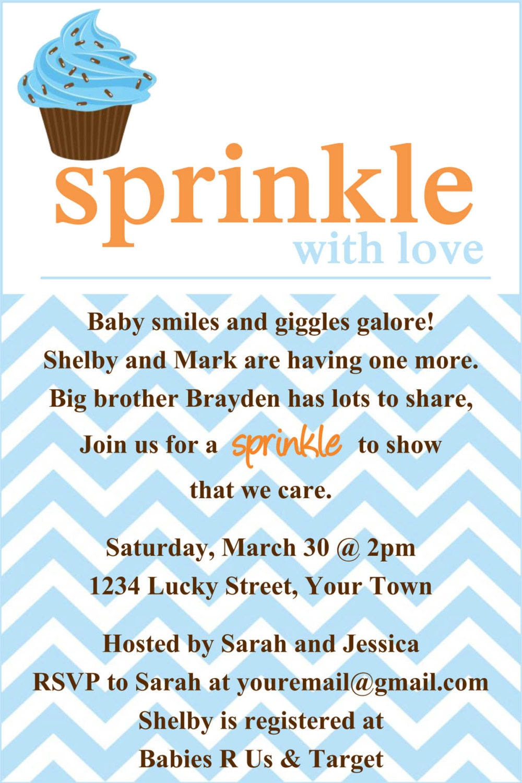 Sprinkle Shower Invitation is good invitations design