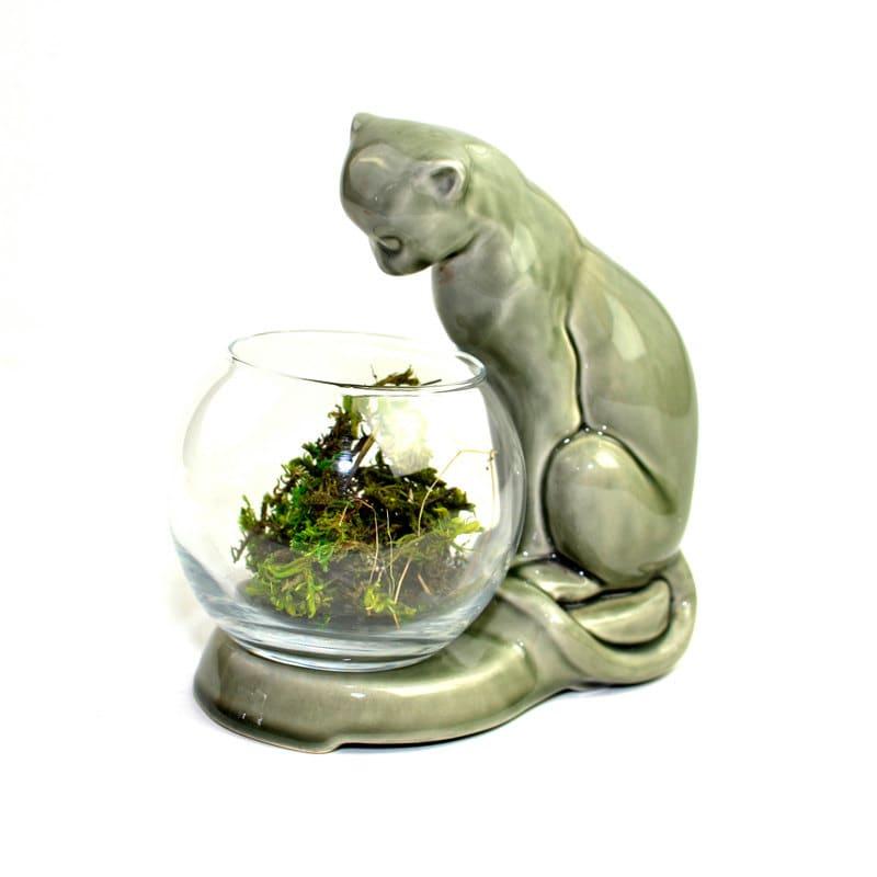 Sale Cat Fish Bowl Or Terrarium Pedestal Large By Onerustynail