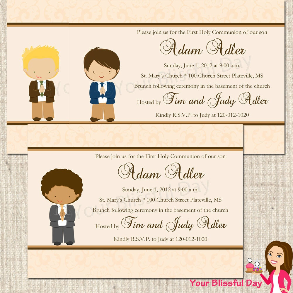 First Communion Party Invitations was very inspiring ideas you may choose for invitation ideas
