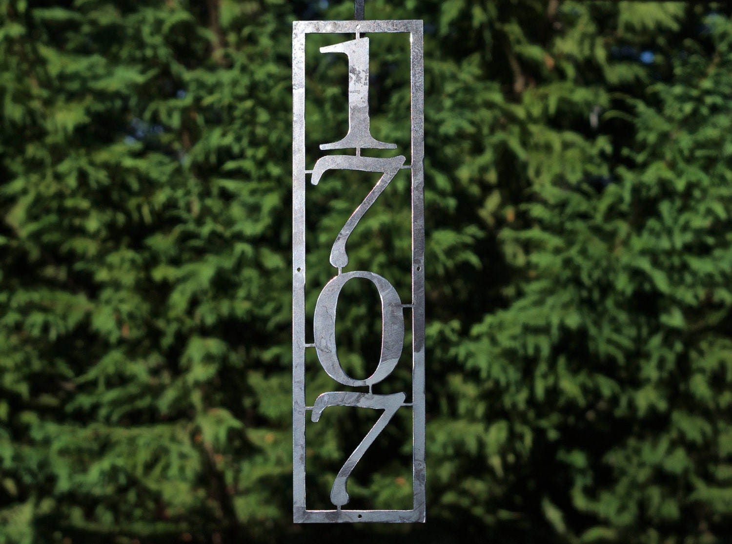 Vertical house numbers custom metal house by glamorousfindings - Decorative house number signs ...