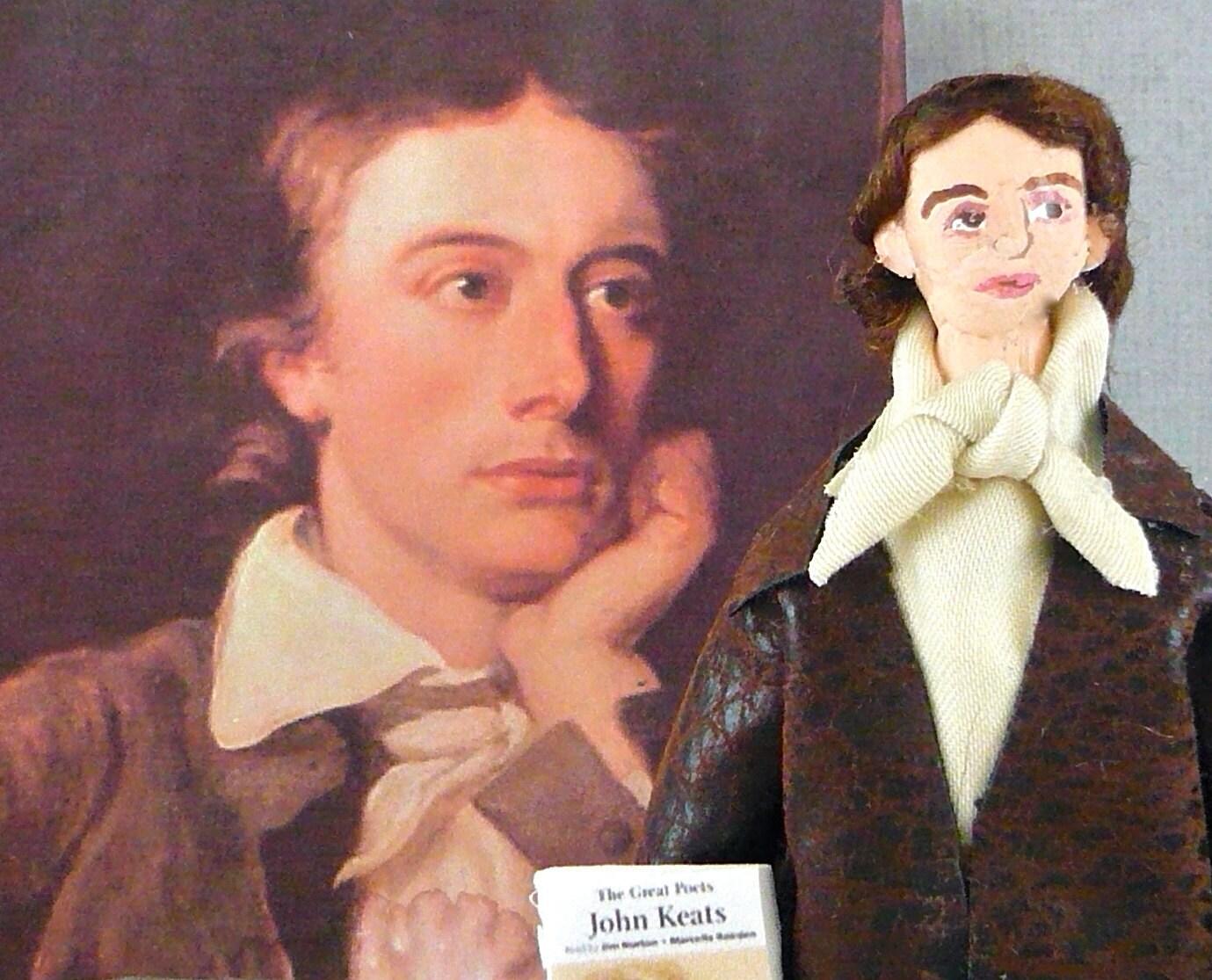 John Keats Doll Miniature Poet and Author