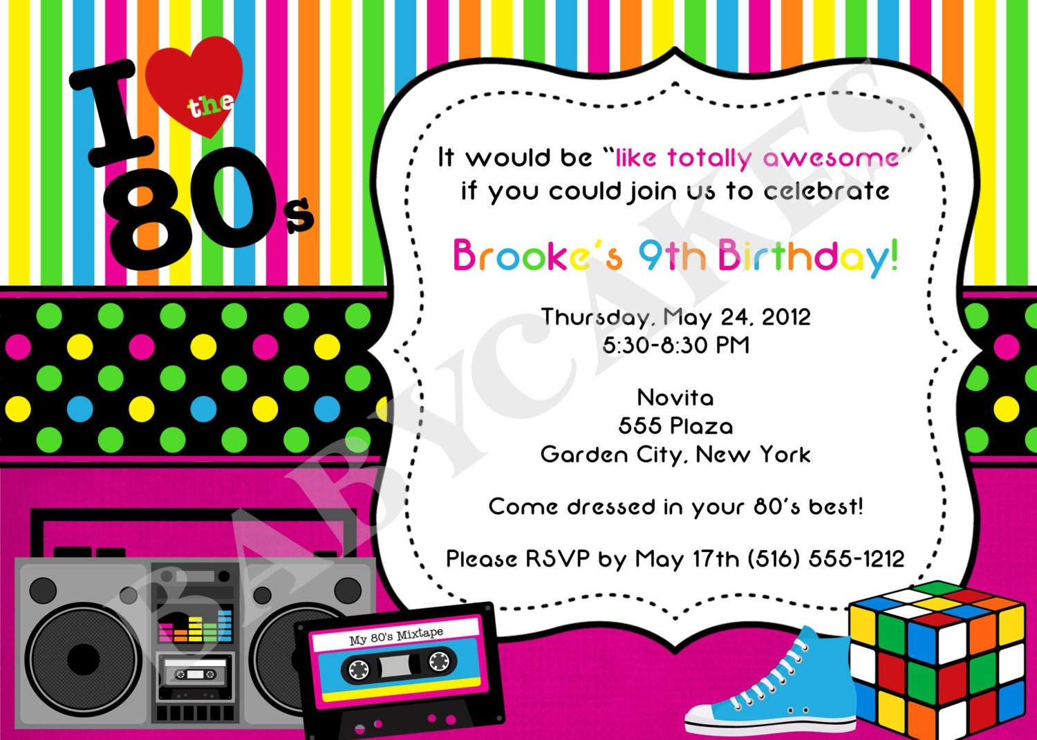 80S Party Invitations for your inspiration to make invitation template look beautiful